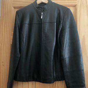 Merona Black Leather Jacket